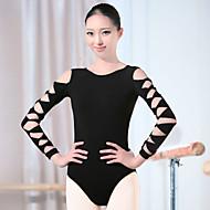Ballet Trikoter Dame Træning Spandex Langærmet Høj