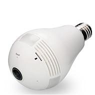 2mp câmera fotográfica de 360 graus wi-fi lâmpada bulbo fisheye panorâmico câmera de segurança detecção de movimento