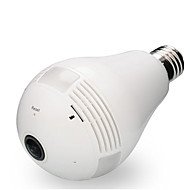 2MP 360 Degree IP Camera Wi-Fi Bulb Lamp Fisheye Panoramic Security Camera Motion Detection