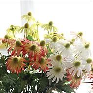 billige Kunstige blomster-5 deler 5 Gren Silke Kurvplante Kunstige blomster