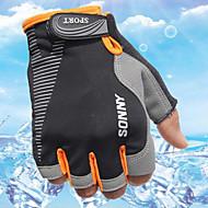 スポーツグローブ サイクルグローブ 耐久性 高通気性 保護 モイスチャーコントロール 耐久 フィンガーレス 布 サイクリング / バイク 男女兼用