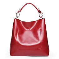 Women Bags All Seasons Cowhide Tote for Event/Party Casual Office & Career Blue Black Red Blushing Pink Brown