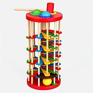 Hammering / Pounding Toy Bolas Pistas para Bolinhas de Gude Brinquedo Para Bebê Brinquedo Educativo Madeira Crianças Dom 1pcs