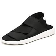 Masculino Sandálias Conforto Borracha Verão Conforto Rasteiro Preto Branco/Preto Menos de 2,5cm