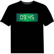 LED-T-shirts 100% Bomuld Nyhed 4 AAA Batterier