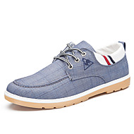 Men's Sneakers Comfort Canvas Spring Summer Fall Winter Casual Outdoor Office & Career Walking Comfort Split Joint Flat HeelLight Blue