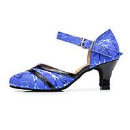 billige Moderne sko-Dame Moderne Lær Annet dyreskinn Sandaler Joggesko Profesjonell Spenne Tykk hæl Blå 8 cm Kan spesialtilpasses