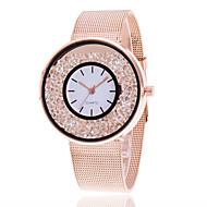 בגדי ריקוד נשים לנשים שעון יד ייחודי Creative צפה שעונים יום יומיים שעון קריסטל צף שעוני שמלה שעוני אופנה Chinese קווארץ סגסוגת להקה קסם