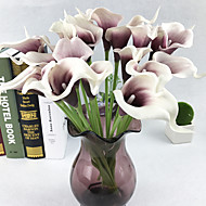 cheap Artificial Flowers-10 Branch PU Real touch Calla Lily Tabletop Flower Artificial Flowers