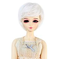 Naisten Synteettiset peruukit Laineikas Valkoinen Doll Wig puku Peruukit
