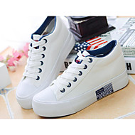 Women's Shoes Breathable Mesh PU Spring Summer Comfort Sneakers For Casual White Black Navy Blue Red