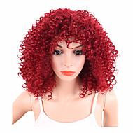 Sintentička kosa perika Kovrčav afro Afro-američka perika Capless Prirodna perika Kratko Crvena