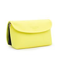 Damen Taschen Ganzjährig PU Kosmetik Tasche für Normal Gelb