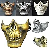 quente! Traje halloween airsoft crânio motocicleta crânio meio rosto cs guerreiro esqueleto militar 3 gerações mascarada máscara