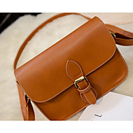 Women Bags All Seasons PU Shoulder Bag for Casual Outdoor White Black Brown