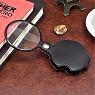billige Kontor Nødvendigheter-1 stk bærbar 60mm forstørrelses mini forstørrelsesglas loupe leser verktøy for natt lesing ramdon farge