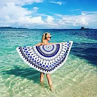 1pc جولة منشفة الشاطئ مع شرابات ستوكات كبيرة مناشف الشاطئ رد الفعل الطباعة منشفة حمام منشفة الكبار