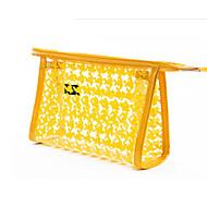Damen Taschen Ganzjährig Polyester Kosmetik Tasche für Normal Silber Orange Gelb