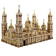 hesapli Modeller ve Model Kitleri-3D Yapbozlar Yapboz Ahşap Modeller Modely Kilise Plaza del Pilar Simülasyon Kendin-Yap Ahşap Tahta Klasik Çocuklar için Yetişkin Unisex