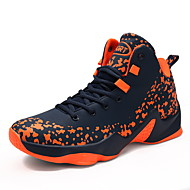 Men's Athletic Shoe Comfort Summer Fall PU Basketball Shoe Athletic Outdoor Ruby Orange Black Flat