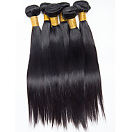 6Pcs/300g 8-26inch Brazilian Virgin Natural Straight Hair Natural Black  Human Hair Weaves