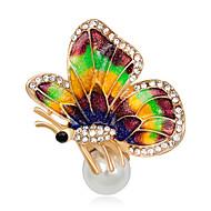 hesapli -Kadın's Genç Kız Broşlar Eşsiz Tasarım Elyapımı Euramerican Moda Çok güzel Yapay Elmas alaşım Hayvan Çeşitli Renk Mücevher Uyumluluk Özel