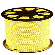 cheap LED Strip Lights-HKV Flexible LED Light Strips 600 LEDs Warm White White Blue Cuttable Waterproof 220V