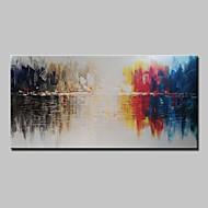 Maalattu Abstrakti Horizontal,Abstrakti Moderni 1 paneeli Kanvas Hang-Painted öljymaalaus For Kodinsisustus