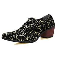 baratos Sapatos Masculinos-Homens Sapatos formais Couro Envernizado Primavera / Outono Oxfords Preto / Verde / Azul / Festas & Noite / Sapatas de novidade