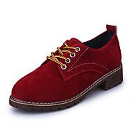 Damen Schuhe PU Winter Komfort Sneakers Runde Zehe Klettverschluss Für Normal Schwarz Rot Grün