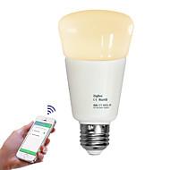 billige Globepærer med LED-JIAWEN 1pc 9W 720lm E26 / E27 LED-globepærer LED perler Mulighet for demping Fjernstyrt Varm hvit Kjølig hvit 110-240V