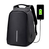 billige Computertasker-Herre Tasker Oxfordtøj Laptoptaske for Afslappet Rejse udendørs Alle årstider Sort Grå Ametyst