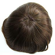6 inç remy insan saç adam toupee insan saçı toupee 8x10 inç mono baz erkek saç parça renk # 4
