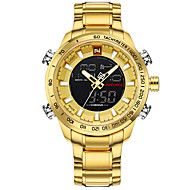 billige Militærur-Herre Quartz Digital Watch / Armbåndsur / Militærur / Sportsur Japansk Kalender / Kronograf / Vandafvisende / Kreativ / Stor urskive /