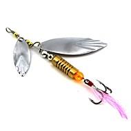 cheap Fishing-1 pcs Metal Bait Spinner Baits Spoons Buzzbait & Spinnerbait Lures Fishing Lures Metal Bait Spoons Buzzbait & Spinnerbait g / Ounce mm