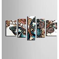 Tela de impressão 5 Painéis Tela Vertical Estampado Decoração de Parede For Decoração para casa