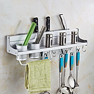 cheap Kitchen Organization-Free Punch Kitchen Shelf Pendant Space Aluminum Tool Holder Multi-function Storage Rack
