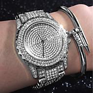 Naisten naiset Luksus kellot Rannerengaskello Diamond Watch Quartz Ruostumaton teräs Hopea / Kulta  / Ruusukulta Vedenkestävä Luova jäljitelmä Diamond Analoginen Viehätys Kimaltava Vapaa-aika