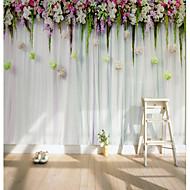 billige Tapet-Veggmaleri Lerret Tapetsering - selvklebende nødvendig 3D / Blomst / Klassisk