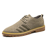 Men's Shoes Pigskin Winter Fall Comfort Oxfords Walking Shoes Lace-up for Wedding Casual Party & Evening Black Khaki