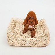 Dog Bed Pet Baskets Flower/Floral Warm Soft Washable