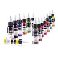 14 × 30 ml Variety Colors Classic Tatuointimusteet tatuointi pigmentti Color Set meikki värejä
