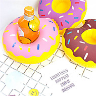 cheap -Inflatable Donut Cup Holder Floating Coasters Drink Beverage Holders Pool Party Supplies
