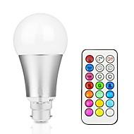 12W 700-800 lm Lâmpada de LED Inteligente A60(A19) 15 leds LED Integrado Regulável Decorativa Controle Remoto RGB + quente RGB + Branco