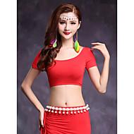 ชุดเต้นระบำหน้าท้อง เสื้อ สำหรับผู้หญิง การฝึกอบรม Modal แขนสั้น Top