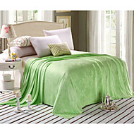 cheap Blankets & Throws-Woven Plants Bamboo/Cotton Blankets