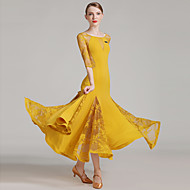 ballroom dans Dame Ydeevne Blondelukning Syntetisk silke Blonde Slidse Halvlange ærmer Naturlig Kjole
