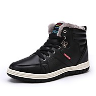 Men's Shoes Real Leather Winter Snow Boots Comfort Boots Skiing Shoes Booties/Ankle Boots Rivet For Athletic Outdoor Black Dark Blue Brown