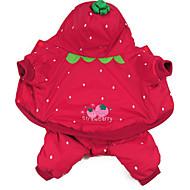 Kat Hund Kostume Hundetøj Cosplay Blomster/botanik Rød Kostume For kæledyr