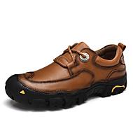 גברים נעלי אוקספורד נוחות עור נאפה Leather סתיו חורף קזו'אל מסיבה וערב מפרק מפוצל עקב שטוח שחור חום חאקי שטוח